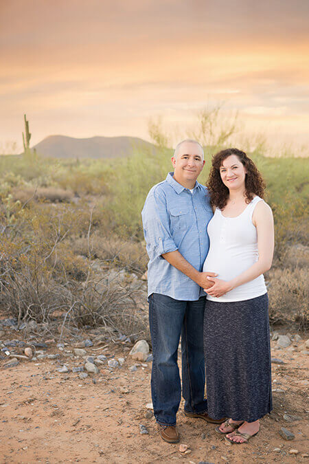 Married couple pregnancy photos Scottsdale, AZ | Jenna Michelle Photography